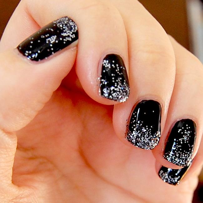 glittertippar svart 2